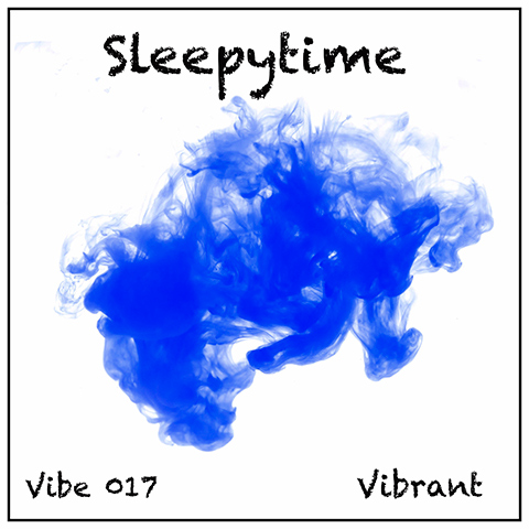 Sleepytime album cover, white background, gentle watery blue wash